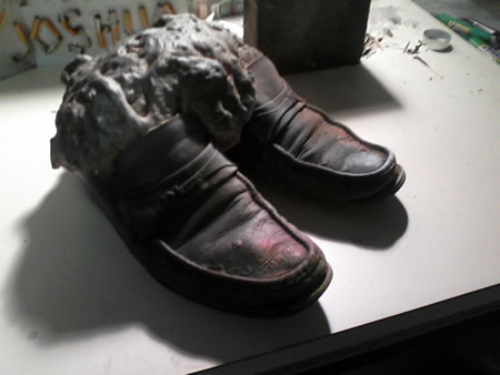 Foamed Shoes by John Norwood
